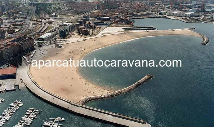 Área autocaravana en Gijón [Poniente] «Parking de Poniente» en, Asturias