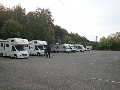 Área autocaravana en Roncesvalles «Parking de Roncesvalles» en, Navarra