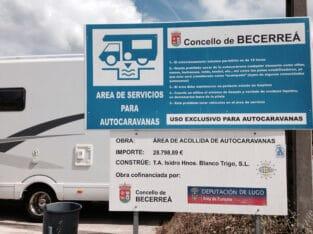 Área autocaravana en Becerreá «Area de Becerreá» en, Lugo