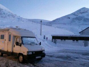 Área autocaravana en Pajares «Área de Valgrande-Pajares» en, Asturias