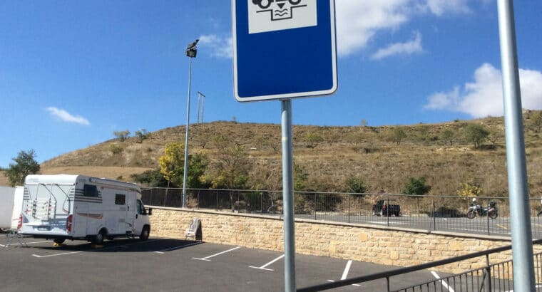 Área autocaravana en Arróniz «Área de Arróniz» en, Navarra