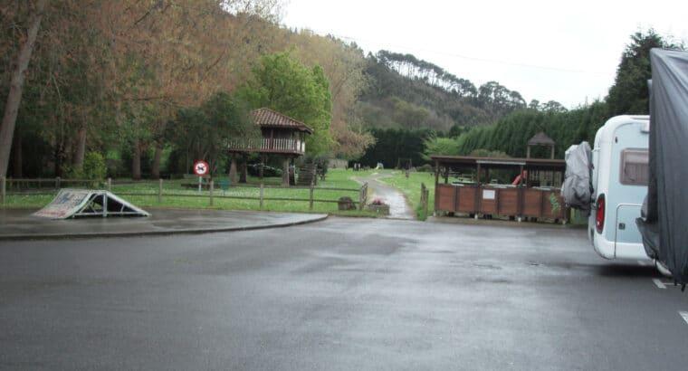 Área autocaravana en Candás «Área de La Fuente de los Ángeles» en, Asturias