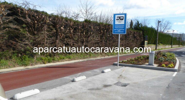 Área autocaravana en Zalla «Área de Zalla» en, Bizkaia