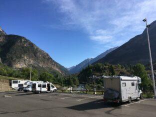 Área autocaravana en Benasque «Área de Benasque» en, Huesca