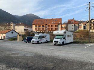 Área autocaravana en Isaba «Área de Isaba» en, Navarra