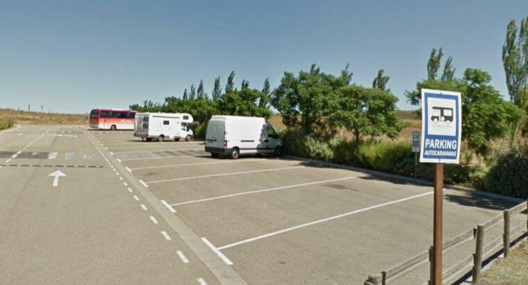 Área autocaravana en Arguedas [Senda Viva] «Parking de Senda Viva» en, Navarra