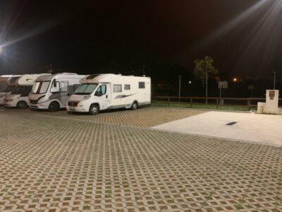 Área autocaravana en Lalín «Área de Lalín» en, Pontevedra