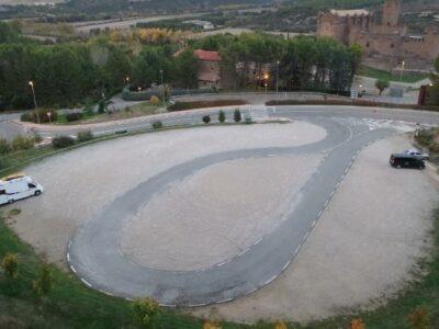Área autocaravana en Javier «Parking del Castillo de Javier» en, Navarra