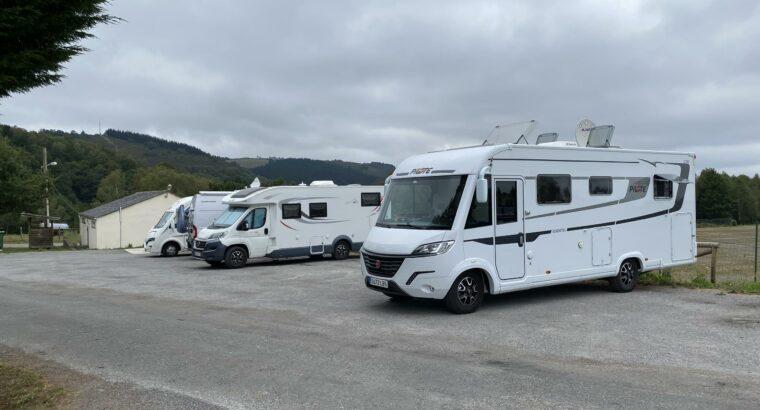 Área autocaravana en San Martín de Oscos «Área de San Martín de Oscos» en, Asturias
