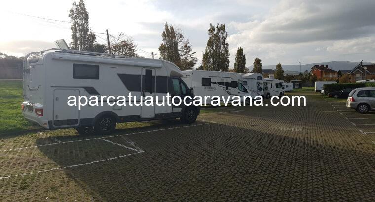 Área autocaravana en Gijón [El Rinconín] «Parking de El Rinconín» en, Asturias