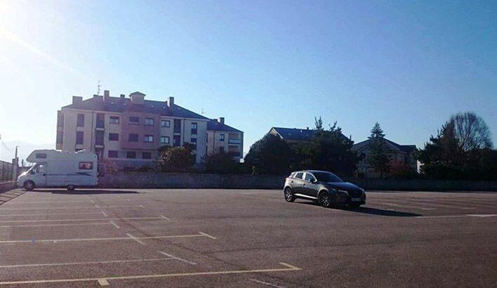 Área autocaravana en Jarrio-Coaña «Área de Jarrio» en, Asturias