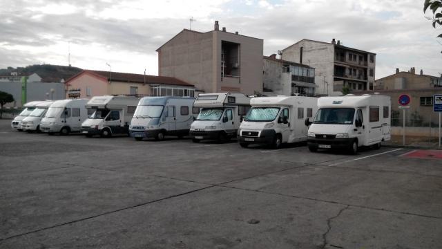 Área autocaravana en Monzón «Area de Monzón» en, Huesca