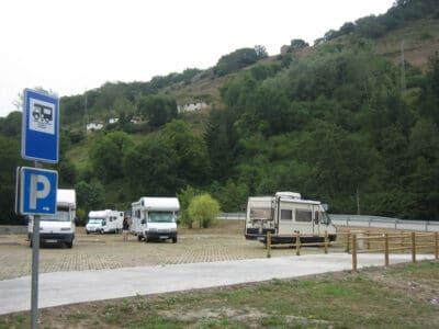 Área autocaravana en Teverga [La Plaza] «Area de La Plaza» en, Asturias