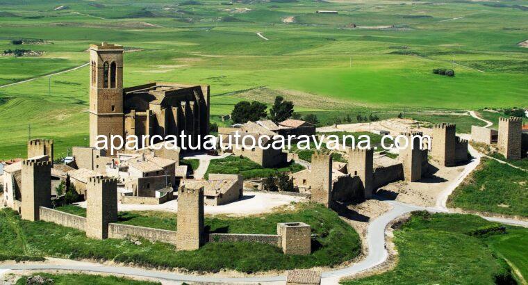 Área autocaravana en Artajona «Área de Artajona» en, Navarra