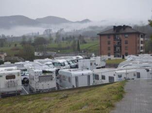 Área autocaravana en Villanueva de Oscos «Área de Villanueva» en, Asturias