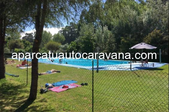 Área autocaravana en A Guarda «Área del Camping Santa Tecla» en, Pontevedra