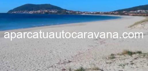 Área autocaravana en Fisterra [Langosteira] «Parking de Playa Langosteira» en, A Coruña