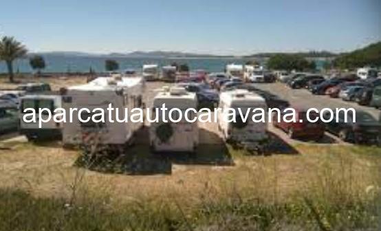Área autocaravana en Isla de Arousa «Parking de O Bao» en, Pontevedra