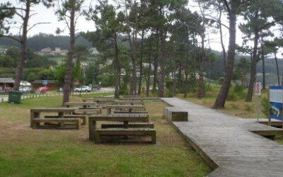 Área autocaravana en O Vicedo [Playa Abrela] «Parking de Playa Abrela» en, Lugo