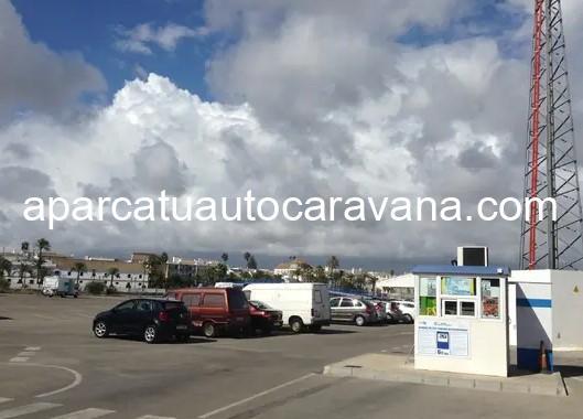 Área autocaravana en El Puerto de Santa María [La Pasarela] «Parking de La Pasarela» en, Cádiz