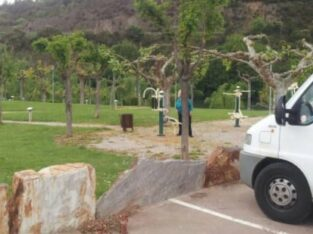 Área autocaravana en Ribas de Sil «Área de Pena da Mula» en, Lugo