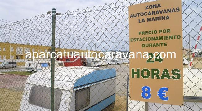 Área autocaravana en Tarifa «Área de La Marina» en, Cádiz