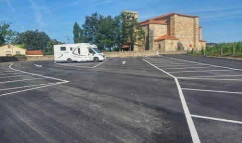 Área autocaravana en Mazcuerras «Parking de Mazcuerras» en, Cantabria