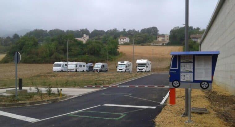 Área autocaravana en Santa Cruz de Campezo «Área de Campezo» en, Álava