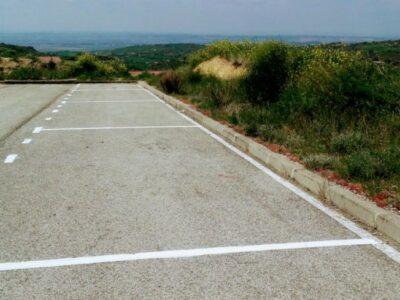 Área autocaravana en San Martín de Unx «Parking de San Martín de Unx» en, Navarra
