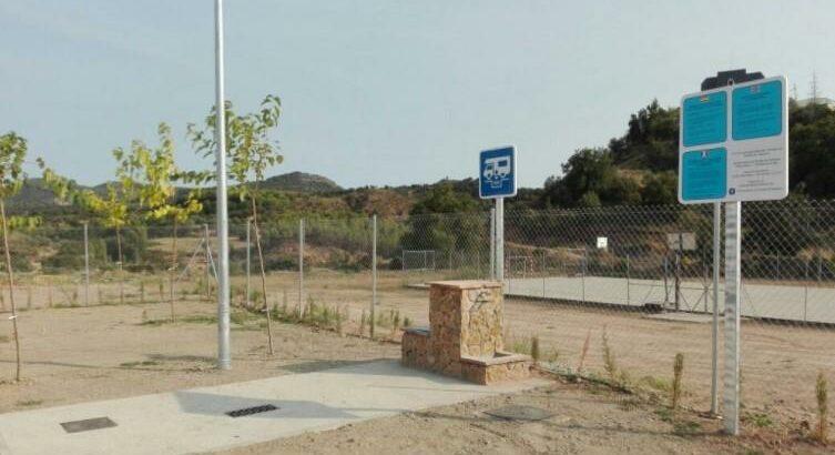 Área autocaravana en Peralta de la Sal «Área de Peralta de la Sal» en, Huesca