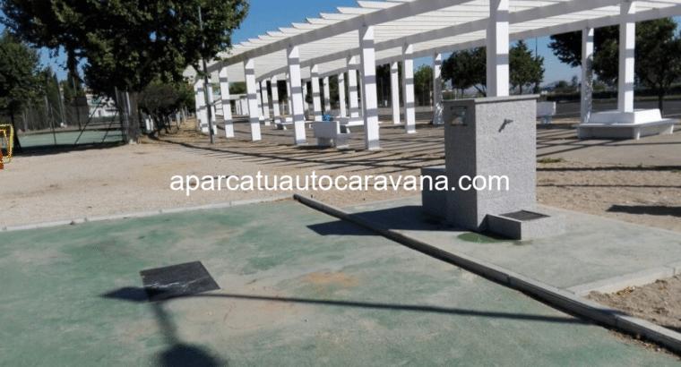 Área autocaravana en Villanueva de la Serena «Área de Villanueva de la Serena» en, Badajoz