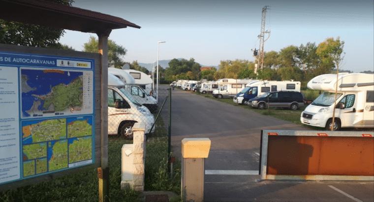 Área autocaravana en Somo-Ribamontán al Mar «Área de Suesa-Somo» en, Cantabria