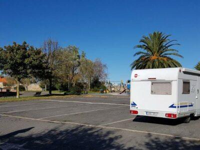 Área autocaravana en Bermeo «Área de Bermeo» en, Bizkaia