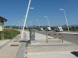 Área autocaravana en Berriozar «Área de Berriozar» en, Navarra