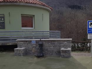 Área autocaravana en Campo de Caso «Área de Campo de Caso» en, Asturias