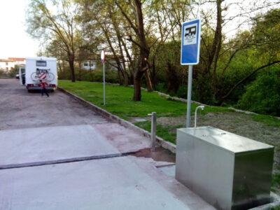 Área autocaravana en Cangas de Morrazo «Area de Cangas» en, Pontevedra