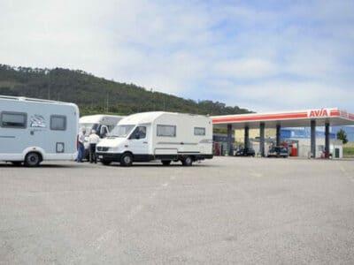 Área autocaravana en Cudillero [Avia] «Área Avia-Cudillero» en, Asturias