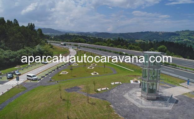 Área autocaravana en Cabezón de la Sal «Área de La Encrucijada» en, Cantabria