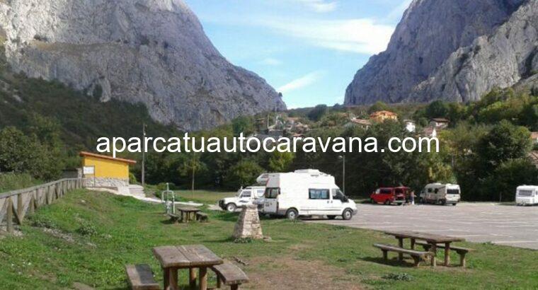 Área autocaravana en Cangas del Narcea «Área de La Cortina» en, Asturias