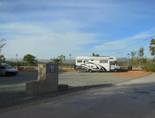 Área autocaravana en Tamallancos-Vilamarín «Area de Tamallancos» en, Ourense
