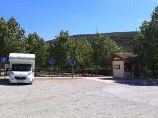 Área autocaravana en Lumbier «Parking de Lumbier» en, Navarra
