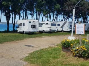 Área autocaravana en Sanxenxo [Pragueira] «Área de Playa Pragueira» en, Pontevedra
