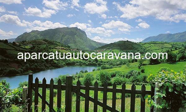 Área autocaravana en El Angliru «Área de El Angliru» en, Asturias