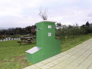 Área autocaravana en Ourol «Area de Ourol» en, Lugo