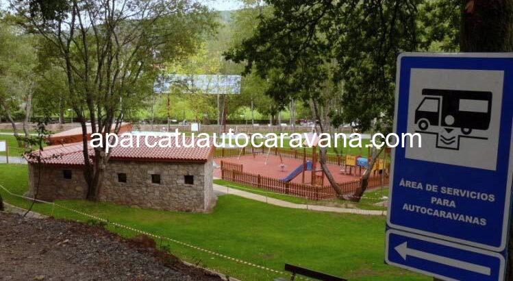 Área autocaravana en Vila de Cruces «Area de Vila de Cruces» en, Pontevedra