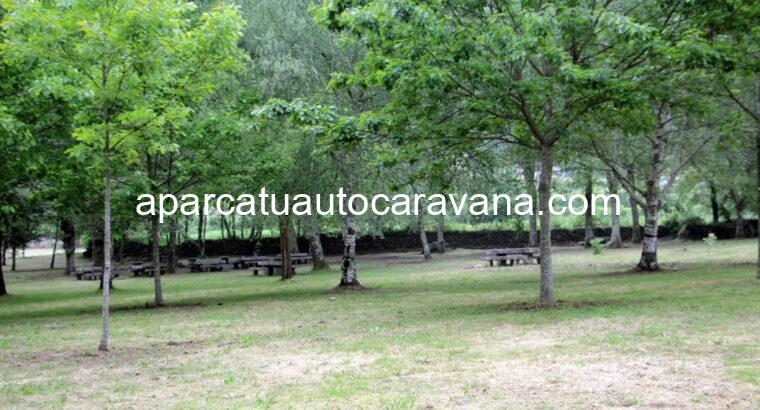 Área autocaravana en Mondariz «Área de Praia do Val» en, Pontevedra