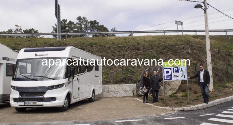 Área autocaravana en Salceda de Caselas «Área de Río Landres» en, Pontevedra