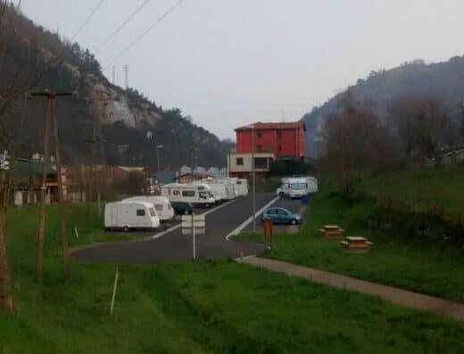 Área autocaravana en Zestoa «Área de Zestoa» en, Gipuzkoa